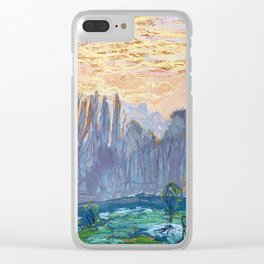 Claude Monet Winter Landscape with Evening Sky Clear iPhone Case