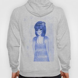 Party Girl Flapper in Blue Hoody