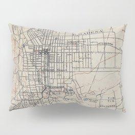 Vintage Map of Pasadena California (1894) Pillow Sham