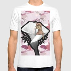 LILY White Mens Fitted Tee MEDIUM
