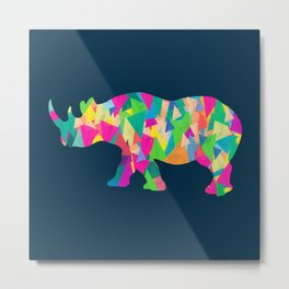 Abstract Rhino Metal Print
