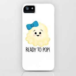 Ready To Pop - Popcorn Blue Bow iPhone Case