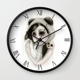 The inability to perceive with eyes notebook I Wall Clock