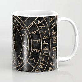Web of Wyrd The Matrix of Fate- Marble and gold Coffee Mug