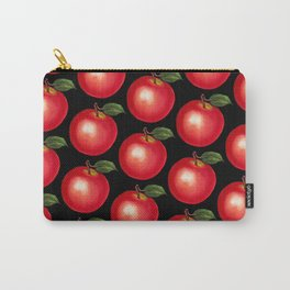 Apple Pattern - Black Carry-All Pouch