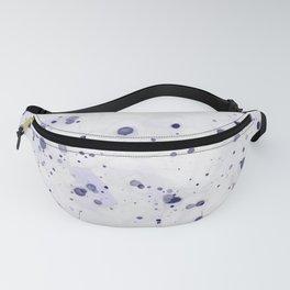Purple Ink Drops Fanny Pack
