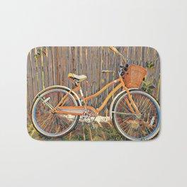 Nostalgic Bike with Basket Bath Mat