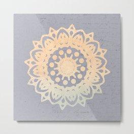 Sun Mandala on old letter Metal Print