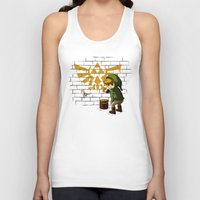 banksy Tank Tops featuring Link Banksy by le.duc