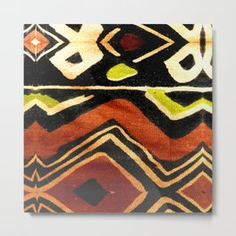 Africa Design Fabric Texture Metal Print