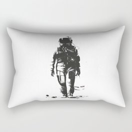 Astronaut cleaning the space Rectangular Pillow