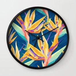 Strelitzia Pattern Wall Clock