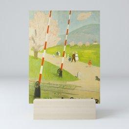 Retro Placard par le rail au grand air cff sbb Mini Art Print