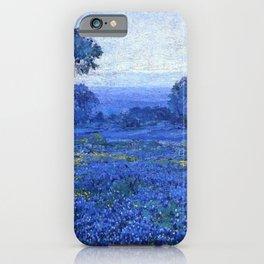 Bluebonnet pastoral scene landscape painting by Robert Julian Onderdonk iPhone Case
