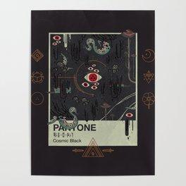 Cosmic Black Poster