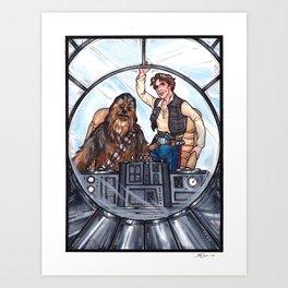 Han and Chewie Art Print