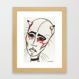 Cat Ladie Framed Art Print