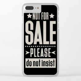 Not for Sale! Clear iPhone Case