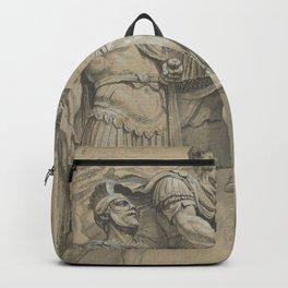 Vintage Marcus Aurelius on Horseback Illustration Backpack