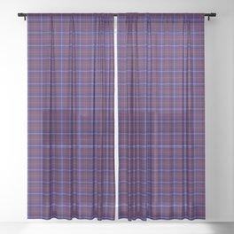 Aberdale Tartan Plaid Sheer Curtain