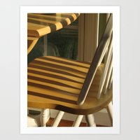 Shadows on the Chairs Art Print