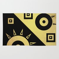 sunshine Area & Throw Rugs featuring sunshine by simay
