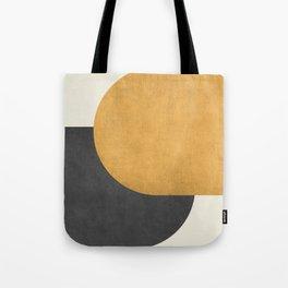 Halfmoon Colorblock - Gold Charcoal Tote Bag