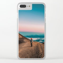 Pastel glow in the sunrise sky Clear iPhone Case