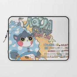 Aqua cat_Puno Laptop Sleeve