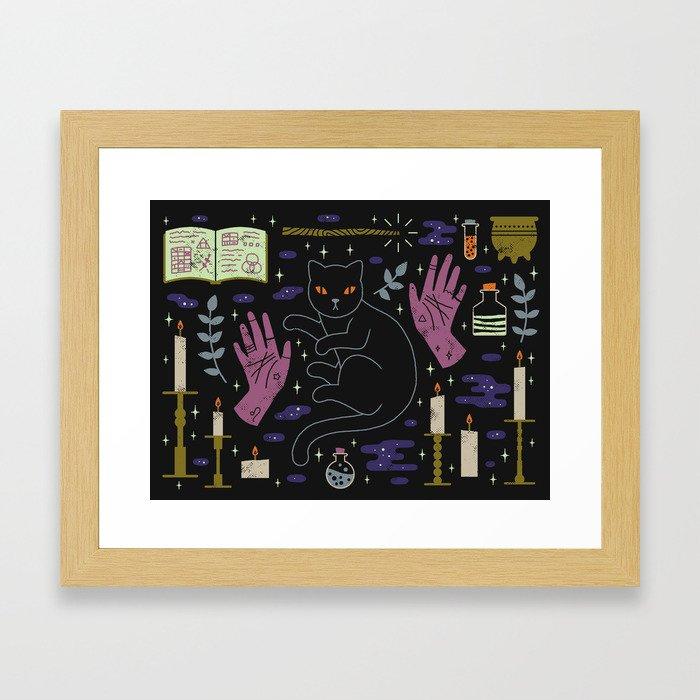 Spooky Horoscopes: Leo Framed Art Print
