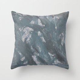 Blue Chalk and Black Ink Throw Pillow