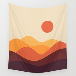 Geometric Landscape 21 Wall Tapestry