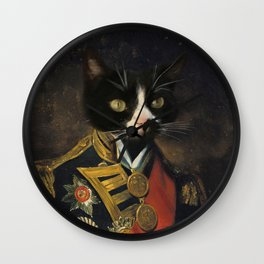 Admiral Kitty Wall Clock