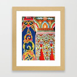 Tibetan Buddhist Monastery Architectural Details Framed Art Print