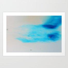Blue Sky Bubbles Art Print
