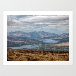 The Great Glen Scotland Art Print