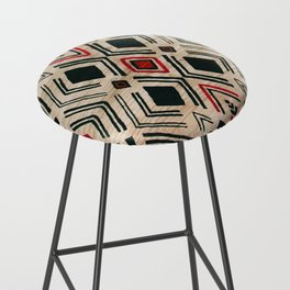 N58 - Traditional African Berber Moroccan Antique Style Artwork Bar Stool