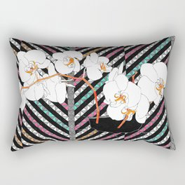 Breaking Patterns (color variation: red accents) Rectangular Pillow