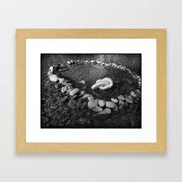 Remain in the center Framed Art Print