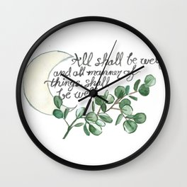 All Shall Be Well Wall Clock
