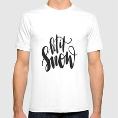 Let It Snow MEDIUM White Mens Fitted Tee