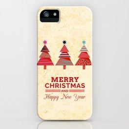 Three Christmas Trees iPhone Case