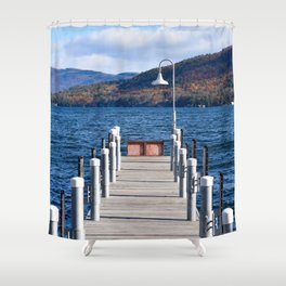 Lake George Pier Shower Curtain