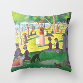 Georges Seurat A Sunday On La Grande Jatte Throw Pillow