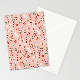 Christmas Candy Stationery Cards