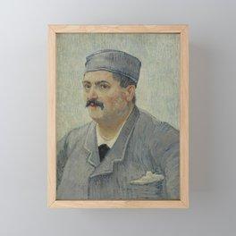 Portrait of Etienne-Lucien Martin Framed Mini Art Print