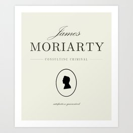 James Moriarty, consulting criminal Art Print