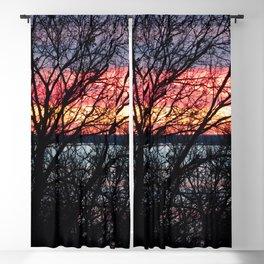 Blazing Lake Sunset Blackout Curtain