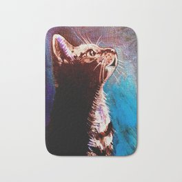 Shadow Cat Bath Mat