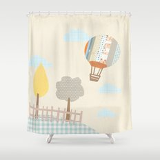 baloon collage Shower Curtain